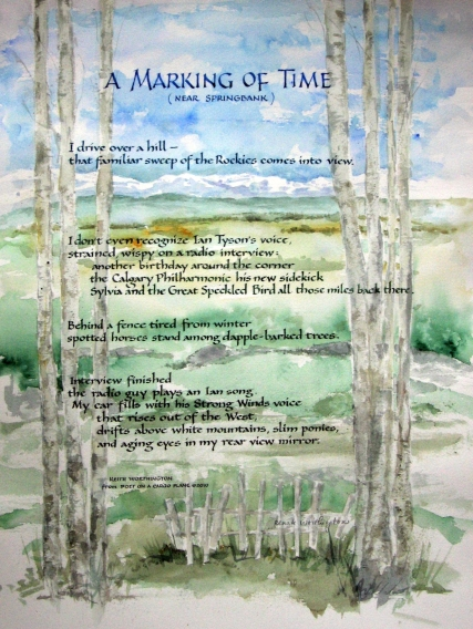 "A Marking of Time - Poem by Keith, artwork and ""Carolingian"" lettering style by Renate"