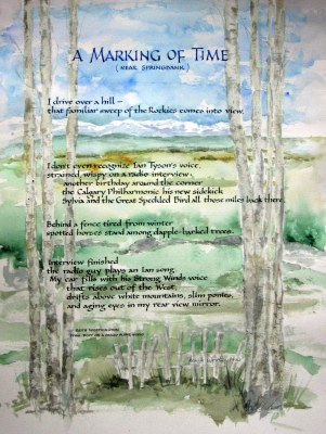 "A Marking of Time - Poem by Keith, artwork and ""Carolingian"" lettering style by Renate Worthington"
