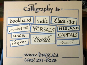 Calligraphy is...