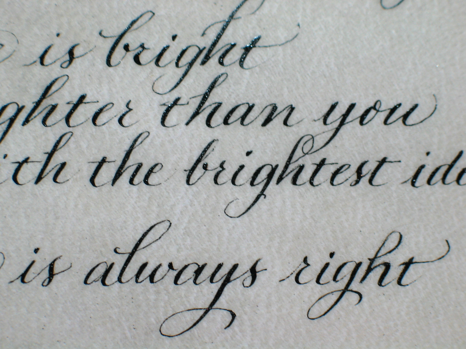 traditional pointed pen (Copperplate)- Renate Worthington