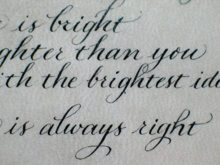 Copperplate (pointed nib)