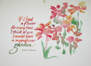 Brush letters & Flowers- Renate