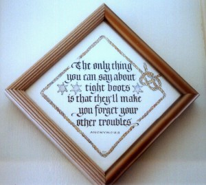Tight Boots- calligraphy by Renate