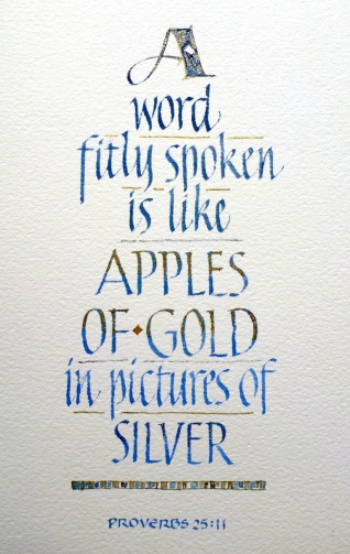 Apples of Gold - italic and capitals, lettered by Renate